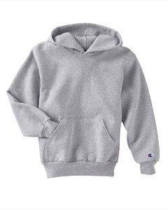 (Champion CY4C CH Youth Sweatshirt Hood - Light Steel -)