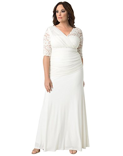- Kiyonna Women's Plus Size Elegant Aisle Wedding Gown 1X Ivory