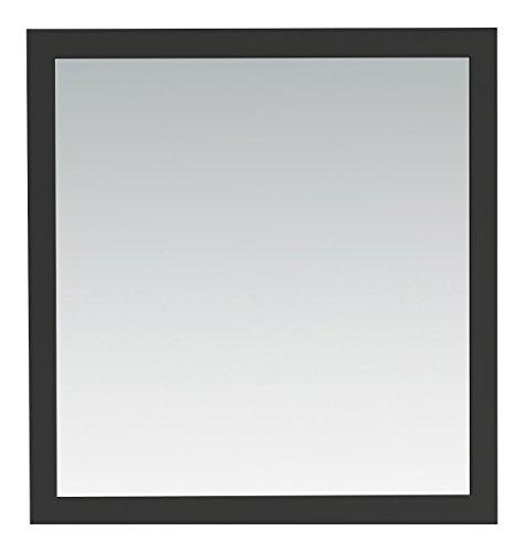 Simpli Home Chelsea Bath Vanity Mirror, 32 by 34-Inch, Black