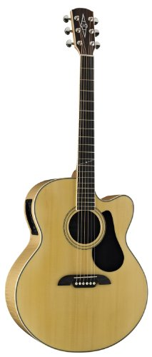 - Alvarez Artist Series AJ80CE Jumbo Acoustic - Electric Guitar, Natural/Gloss Finish
