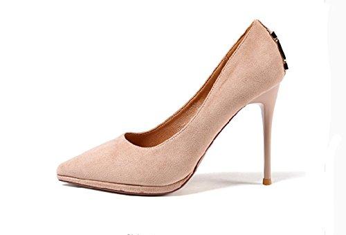 MDRW-Lady/Elegante/Trabajo/Ocio/Muelle El Lugar De Trabajo Solo Zapatos Blancos Con Una Punta Fina Elegante All-Match Sexy Zapatos De Tacón De 5Cm 10 34 39