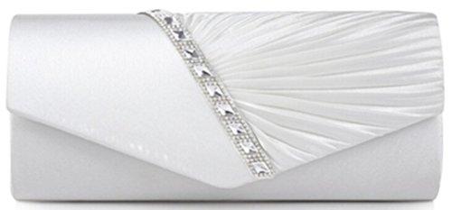Stain White HGDR Bag Rhinestone Bag Clutch Rhinestone White Clutch Women Women HGDR HGDR Women Stain Stain 1dq1Zx