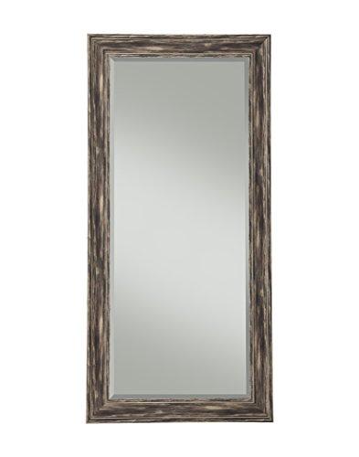 Sandberg Furniture Farmhouse, Full Length Leaner Mirror, Antique Black - Black Antique Furniture