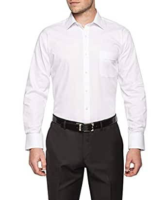 Van Heusen Classic Relaxed Fit Business Shirt, White, 38 86