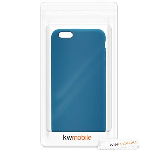 kwmobile TPU Silicone Case Compatible with Apple iPhone 6 Plus / 6S Plus - Soft Flexible Rubber Protective Cover - Petrol