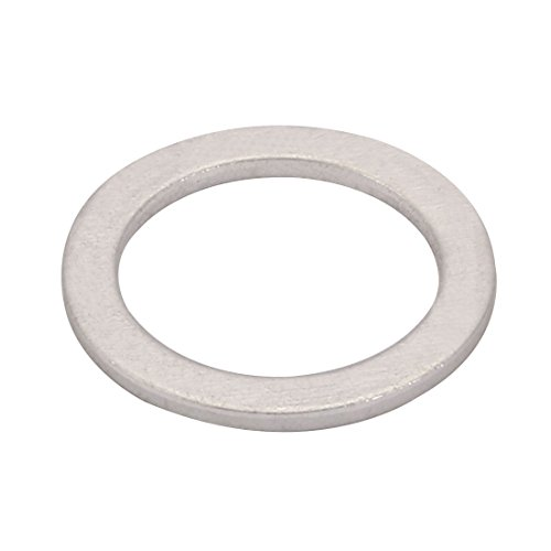 uxcell 200Pcs 18mmx24mmx1.5mm Aluminum Motorcycle Hardware Drain Plug Washer by uxcell (Image #1)