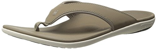 Spenco Men's Yumi Flip Flop Sandal, Walnut,  10 Medium US
