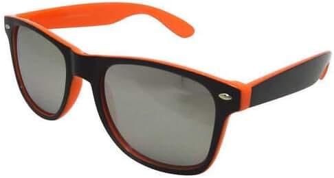 Two-toned Black and Bright Orange Retro Style Sunglasses