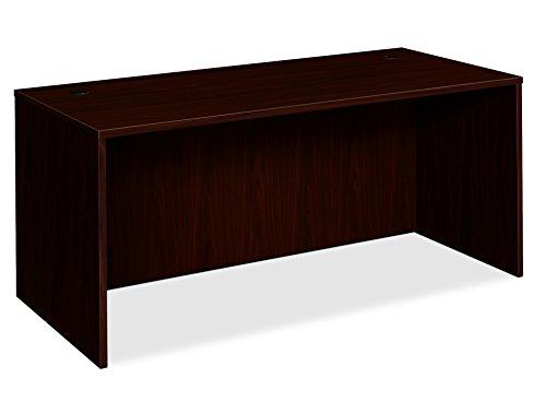 HON BL Laminate Series Office Desk Shell - Rectangular Desk Shell, 66w x 30d x 29h, Mahogany (HBL2102) ()