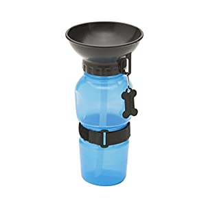 Highwave AutoDogMug 20oz Water Bottle for Dogs, Auto Dog Mug Color Blue