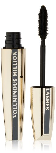 L'Oreal Paris Makeup Voluminous Million Lashes Mascara Volumizing, Defining, Smudge-Proof, Clump-Free Lengthening, Collagen Infused Eye Makeup Formula, Amplifying Mascara Brush,Carbon Black,0.3 fl.Oz