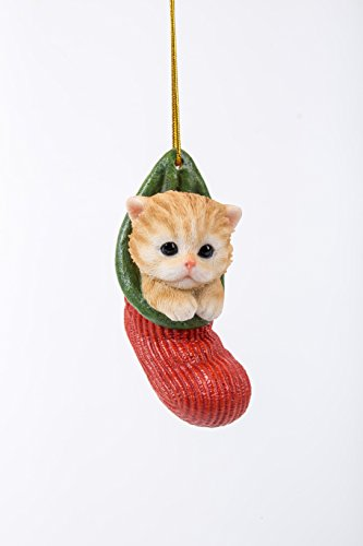 Pacific Giftware Cat Kitten Decorative Holiday Festive Christmas Hanging Ornament