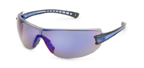 - Luminary Safety Glasses, Black Temple, Blue Inset, Blue Mirror Lens, 19GB9M