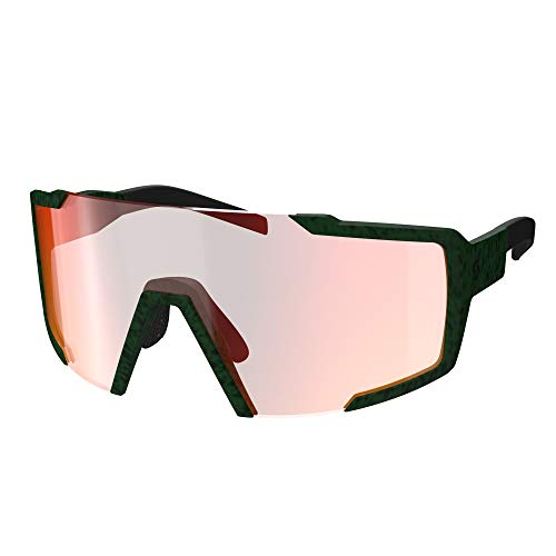 Scott Shield fietswisselschijven, bril, groen/rood, chroom versterker