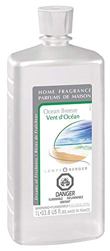 Ocean Breeze | Lampe Berger Fragrance Refill for Home Fragrance Oil Diffuser | Purifying and perfuming Your Home | 33.8 Fluid Ounces - 1 Liter | Made in France (Best Homemade Room Deodorizer)