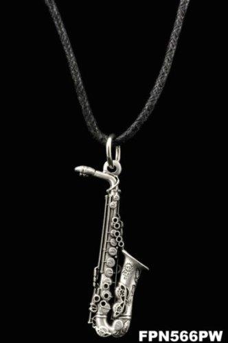 Harmony Jewelry Soprano Sax Necklace Other Guitars Pewter