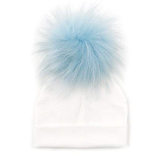 fb4300c5a GZHILOVINGL Baby Toddler Bonnet Hat with Big Real Fur Pom Pom, Kid ...