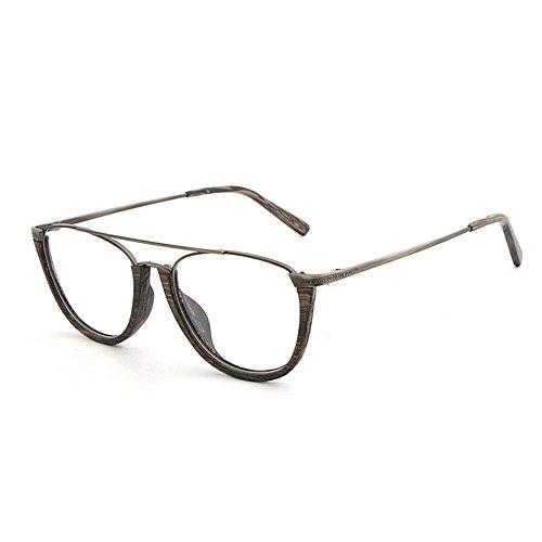 gafas de de mujeres clásicas Retro Gafas semi UV sol de Hombres madera conducción sol de sol con Gafas sin unisex de de sol protección para Gafas Gris de de Gafas esqu Gafas redondas sol montura de playa aggvqSCw