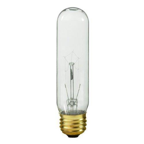 Satco S3250 120V Medium Base 25-Watt T10 Light Bulb, Clear
