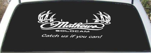 Antler Hunting Rear Window Decal 9 X 24 (Rear Window Hunting Decal)