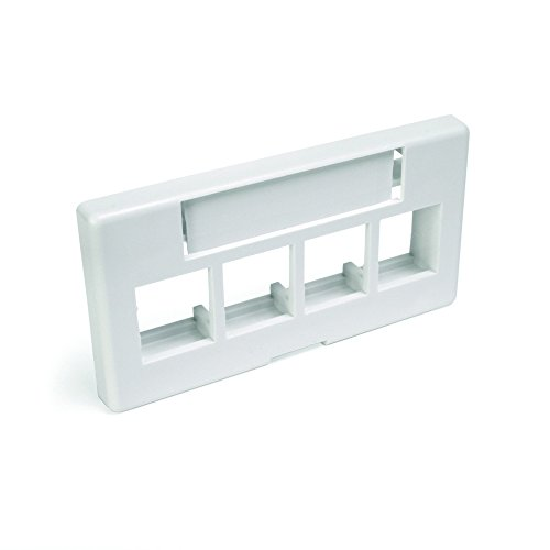 4 Port Faceplate Furniture - Leviton 49910-SW4 4-Port QuickPort Modular Furniture Faceplate, White