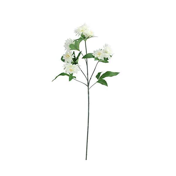 27″ Decorative Cream White Mini Dahlia Artificial Silk Floral Spray