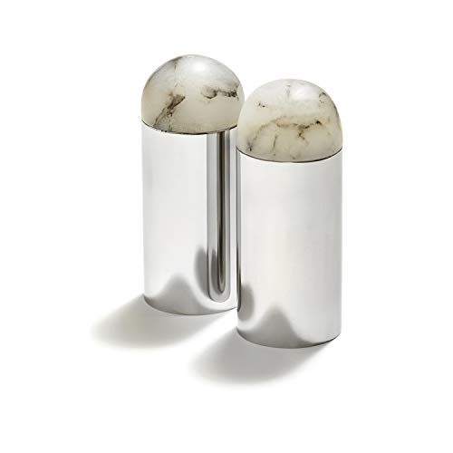 Anna New York by RabLabs Amare Salt and Pepper Set, Stainless Steel (2 pieces)