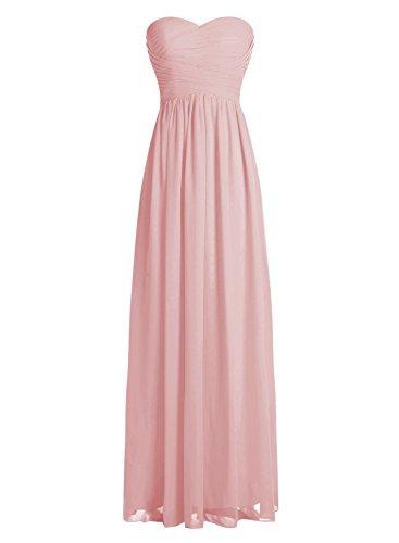 Dressystar Robe de demoiselle d'honneur/de soirée longue formelle Taille 56 Blush