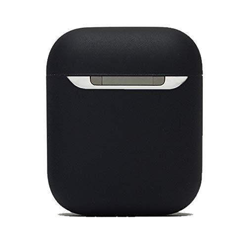 Protective Airpods Case {Made of 2 pcs} Shock Proof Soft Skin for Airpods Charging Case(Black)