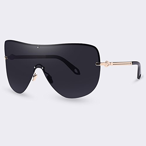 (Gydoxy(TM) 1 PCS Sunglasses Polarized Women Goggle Glasses Oversized Metal Frame for Female Sunglasses Vintage Cool Designer Eyewear UV400 (Gray))