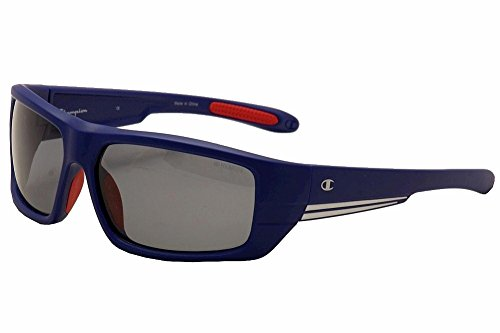 Champion Men's Matte Blue polycarbonate Rectangular - Sunglass Champion