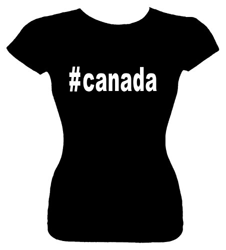 Junior's Size L T-Shirt (#canada (Hashtag Tee Shirt)) Fitted Girls - Junior Canada