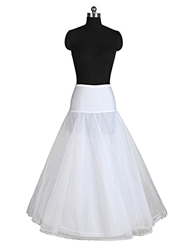A-Line Full Gown Floor-Length Bridal Dress Gown Slip Petticoat White XL Dress Petticoat Slip