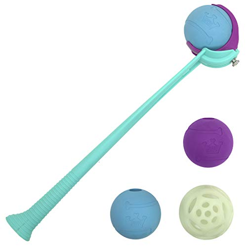 Chew King Fetch Balls Extremely Durable Natural Dog Toy Ball Launcher, Fetch Toy Collection