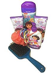 Nickelodeon Dora the Explorer & Friends Children's Bath & Body Gift Set 7 piece Bubble Bath, Body wash and more
