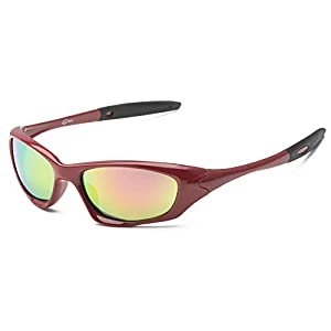 SACAS Active Sport Collection 100% UV Protection Sunglasses UNBREAKBLE TR90 Frame in Red &Pink Revo