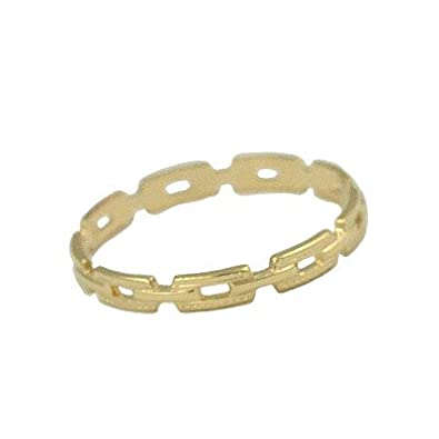 Amazoncom Baby Jewelry 10K Yellow Gold Chain Link Cut Ring For