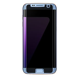 TCD Galaxy S7 Edge Anti Spy Premium Screen Protector Only Fits Flat Part of Screen As Shown