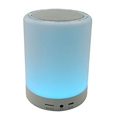 Indoor Outdoor Color Changing Tap Light Night Light with Wireless Bluetooth Speaker Hands-free TF Card Supported LED Touch Lamp Desk Lamp S17 from Yunruipeng