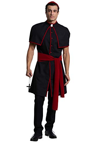 Yandy Exclusive Sleeveless Coat Men's Cardinal Leader Halloween Costume Black XL]()