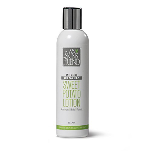 Hand Crafted Organic Sweet Potato Body Lotion for Women and Men - Made from REAL Organic Sweet Potatoes - CHEMICAL-FREE. Naturally rich in Vitamin A and beta carotene - long known for having almost MAGICAL Skin HEALING properties. You