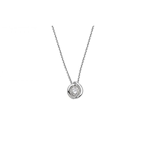 Collier World Diamond Group Calla gim34 - 0.20 or blanc diamant
