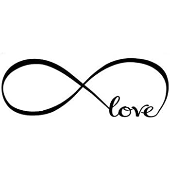 Amazon Com Cugbo Love Infinity Symbol Vinyl Wall Decal