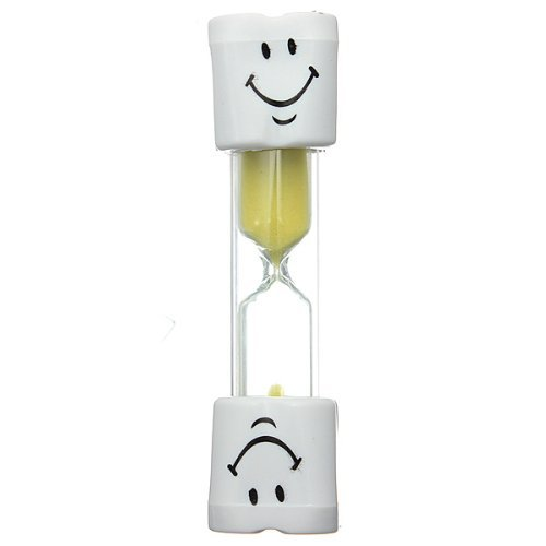 Zacr Kids Toothbrush Timer ~ 2 Minute Smiley Sand Timer for Brushing Children's Teeth (Yellow) SYNCHKG057881