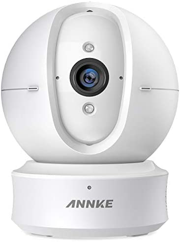 ANNKE Home Camera, 1080P HD Pan Tilt Wi-Fi Wireless Security IP Camera with Football Silicone Skins, Work with Alexa Echo Show Fire TV , Google Assistant and IFTTT, Cloud Service Available