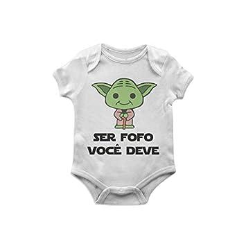 Body Bebê Star Wars Yoda fofo TAM M  Amazon.com.br  Casa 2b73784bd01