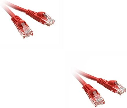 Snagless//Molded Boot 6 Inch Red CNE485909 2 Pack Cat5e Ethernet Patch Cable