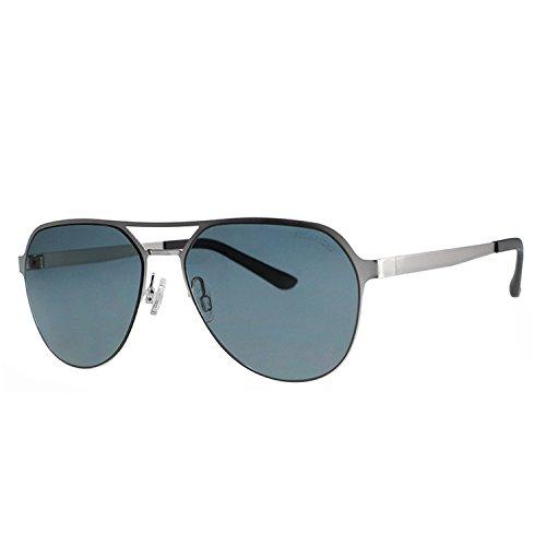 Puissant men's polarized sunglasses stylish super elastic stainless steel sunglasses outdoor driving sunglasses,Gray film