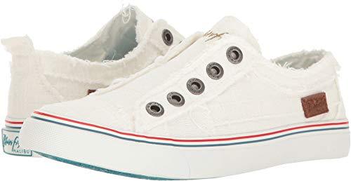 Blowfish Malibu Women's Play Fashion Sneaker, White Cozumel Linen, 9 Medium US