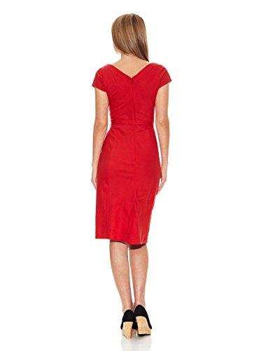 a Rosso Siyu Donna ad Vestito linea xnPYRg